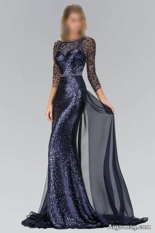 مدل لباس شب 1400 رنگ تیره
