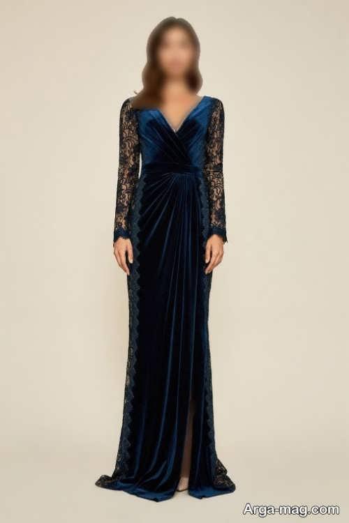 مدل لباس شب 1400 آستین دار و بلند
