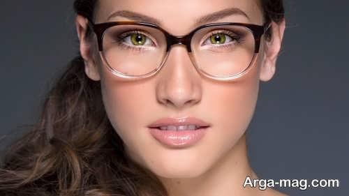 آرایش چشم ساده مخصوص زیر عینک
