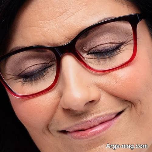 مدل های آرایش چشم زیر عینک