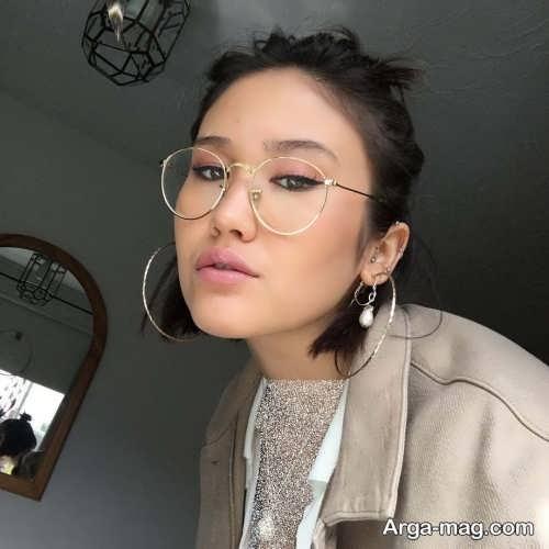 آرایش چشم زنانه برای زیر عینک