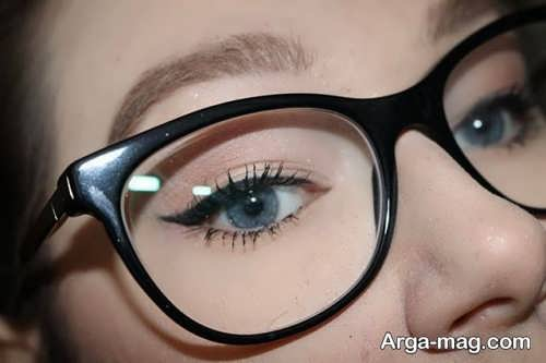 میکاپ چشم دخترانه برای زیر عینک
