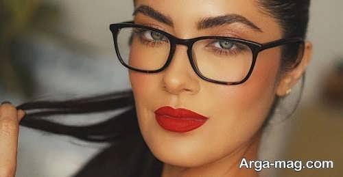 مدل های میکاپ مخصوص زیر عینک