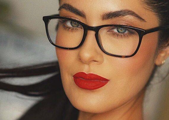 آرایش چشم زیر عینک