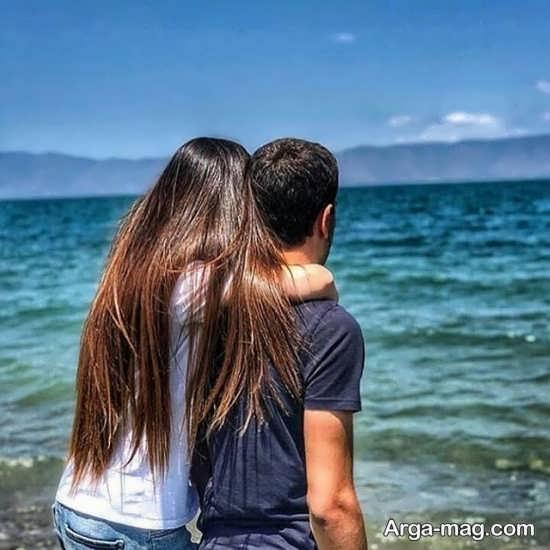 ژست احساسی و عاشقانه بدون چهره