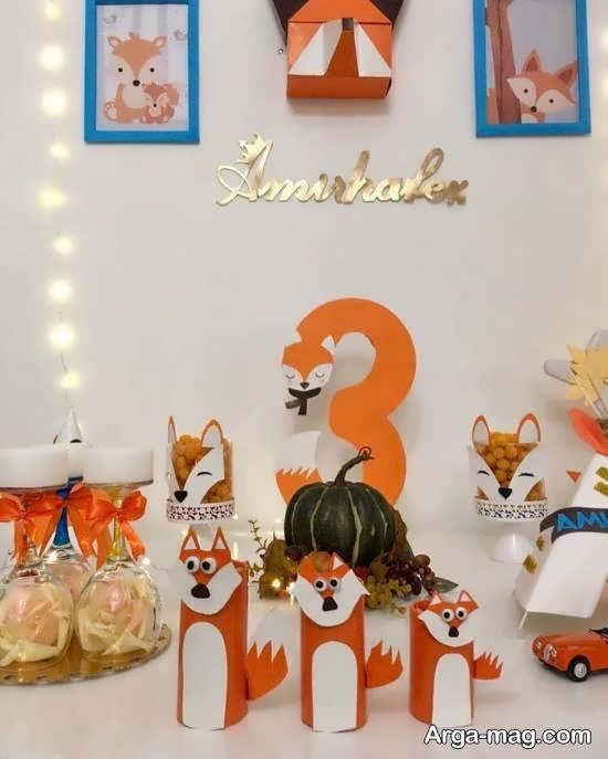ایده هایی زیبا و منحصر به فرد از طرح تولد روباه