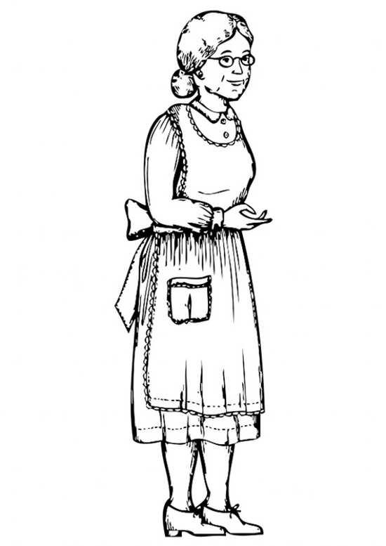 نقاشی ساده و جالب مادربزرگ