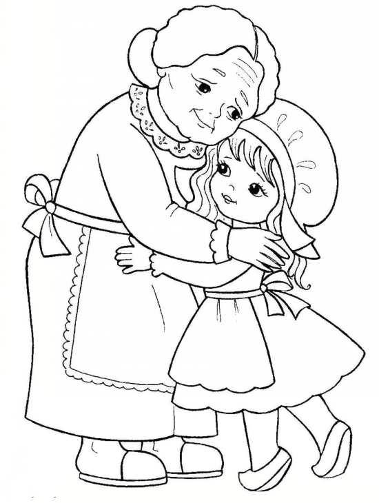نقاشی نوه و مادربزرگ