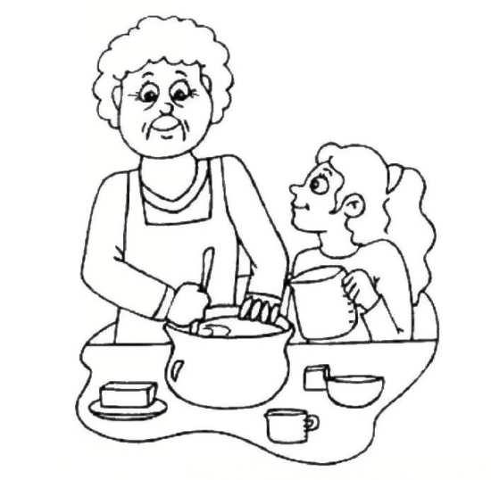 نقاشی جذاب مادربزرگ