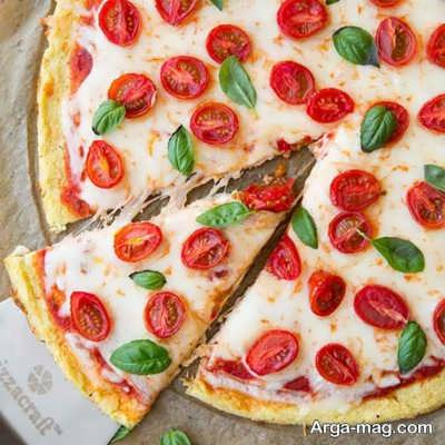 طرز تهیه پیتزا گل کلم چگونه است؟