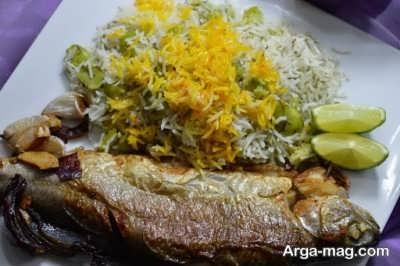 طرز تهیه باقالی پلو با ماهی با طعم ایده آل