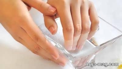 سفیدی ناخن ها با آب اکسیژنه