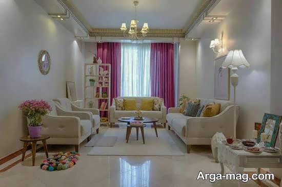 Iranian living room decoration 14 - دکوراسیون نشیمن ایرانی با ۶۶ طراحی منحصر به فرد و ایده آل