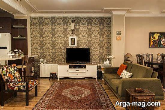 Iranian living room decoration 16 - دکوراسیون نشیمن ایرانی با ۶۶ طراحی منحصر به فرد و ایده آل