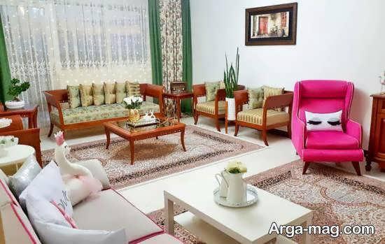 Iranian living room decoration 19 - دکوراسیون نشیمن ایرانی با ۶۶ طراحی منحصر به فرد و ایده آل