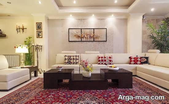 Iranian living room decoration 51 - دکوراسیون نشیمن ایرانی با ۶۶ طراحی منحصر به فرد و ایده آل