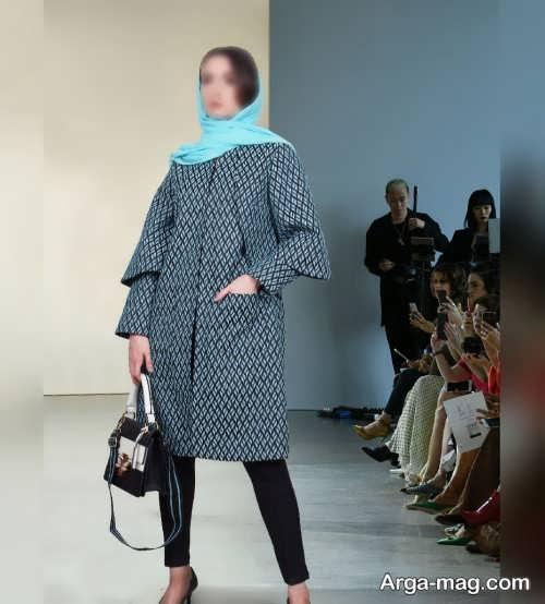 مدل مانتو ژاکارد شیک