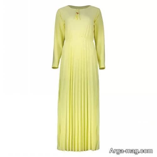 لباس مجلسی لیمویی بلند