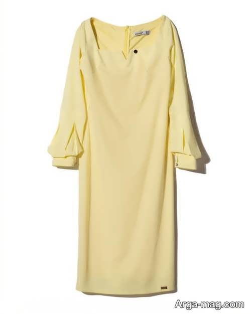 پیراهن کوتاه مجلسی لیمویی