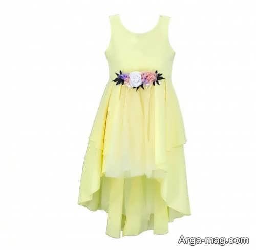 مدل لباس مجلسی کوتاه لیمویی