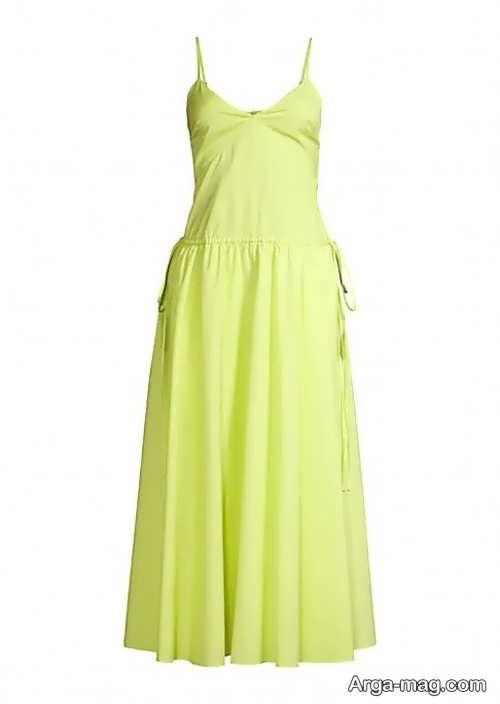 مدل لباس مجلسی لیمویی کوتاه و شیک