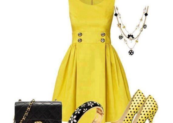 مدل لباس مجلسی لیمویی