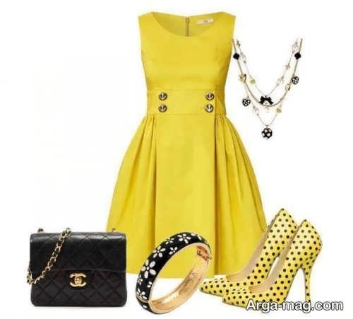 ست لباس مجلسی لیمویی
