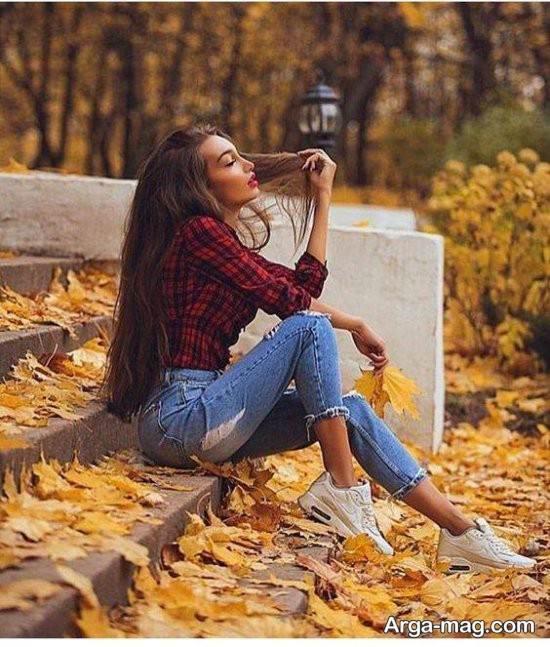 مجموعه ژست عکس در پارک