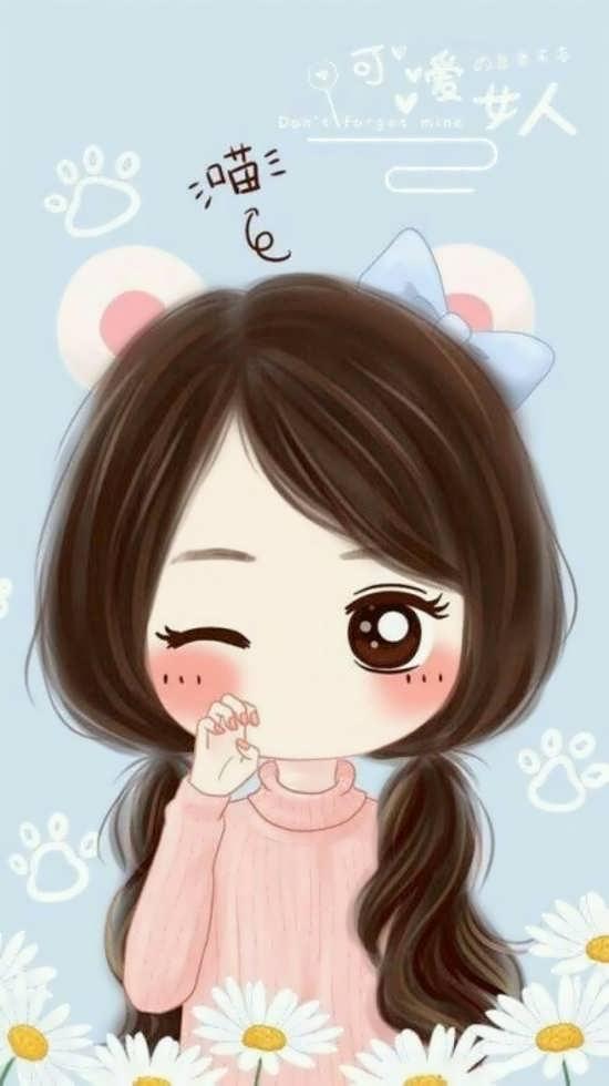 تصویر پروفایل جذاب دخترانه انیمیشنی