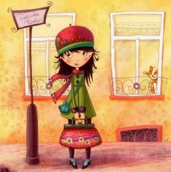 تصویر پروفایل انیمیشنی دختر تنها