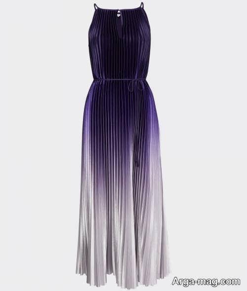 مدل لباس رنگی و چین دار