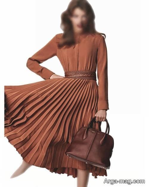 مدل لباس چین دار دخترانه