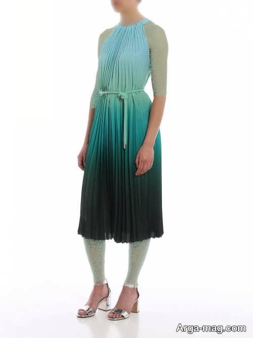 مدل لباس مجلسی چین دار و زیبا