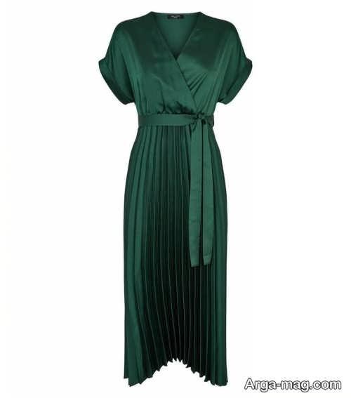 مدل لباس چین دار و سبز