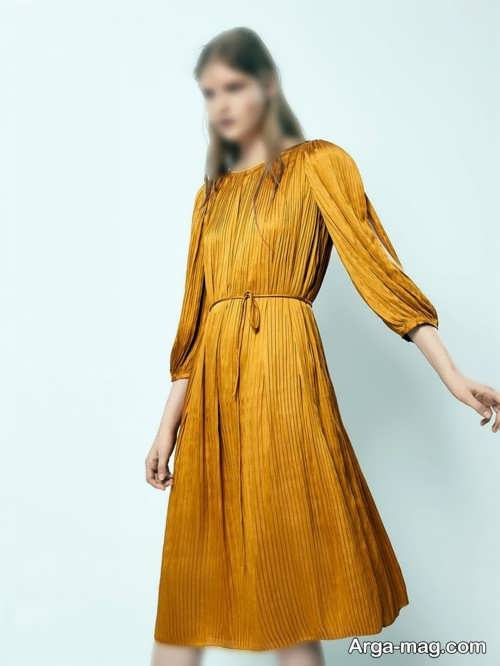 مدل لباس چین دار زنانه