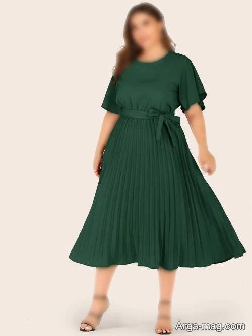 مدل لباس مجلسی سبز تیره