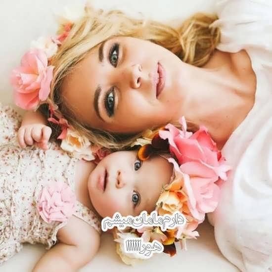 عکس نوشته تبریکات مادر شدن