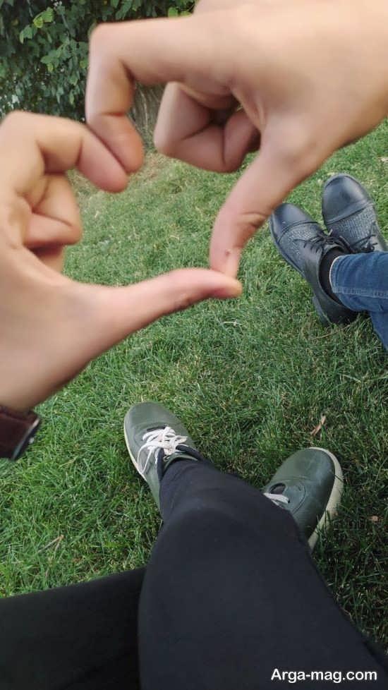 تصویر پروفایل دست عاشقانه