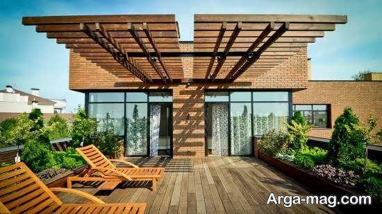 انواع طرح های خارق العاده و متنوع تزیین پشت بام