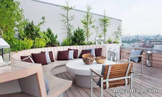 ایده های تزیین بام منزل با استفاده از گیاهان بالا رونده و گل ها و ..