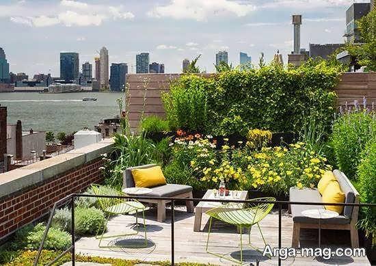 تزیین پشت بام برای آپارتمان ها