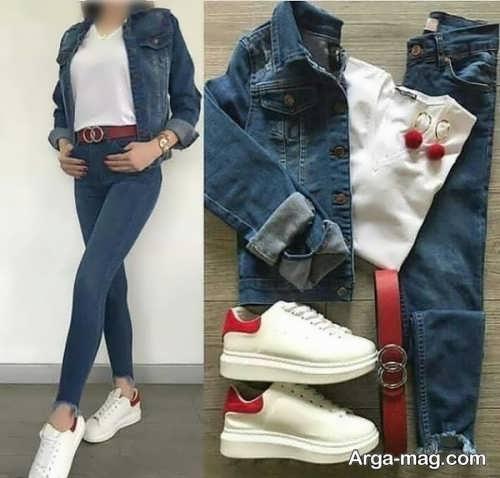 لباس جین برای کفش سفید