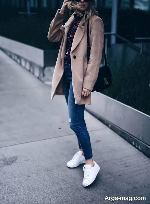 ست لباس شیک دخترانه با کفش سفید