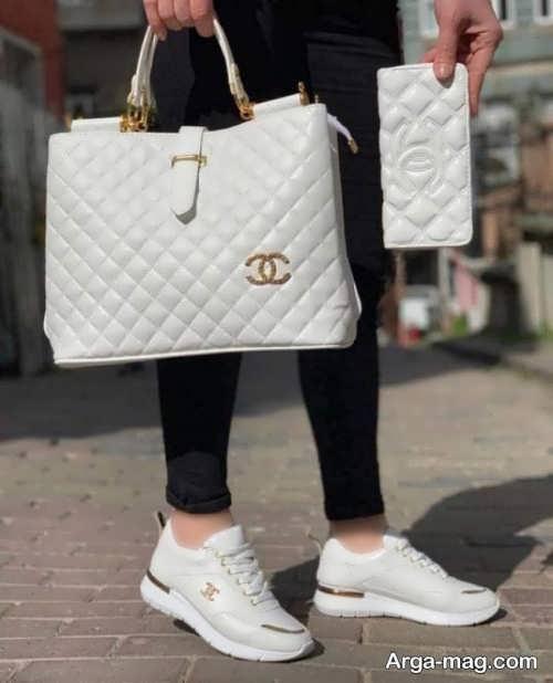 ست کیف و کفش سفید