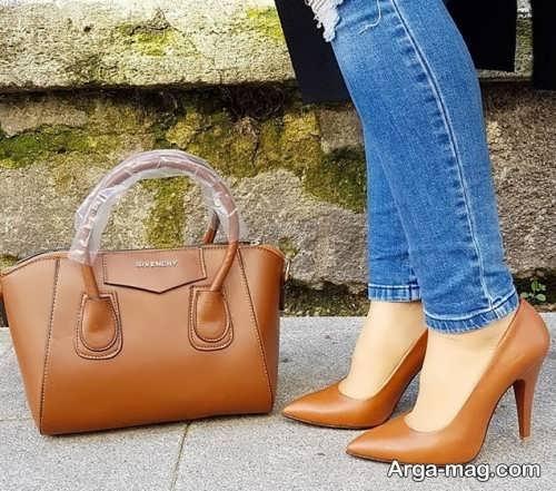 ست کفش قهوه ای زنانه