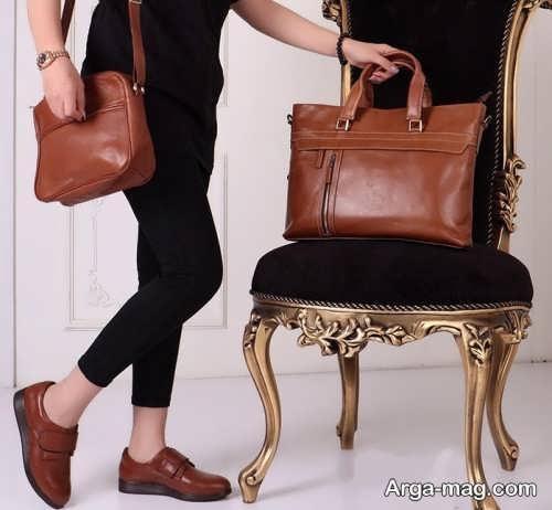 ست لباس دخترانه با کفش قهوه ای