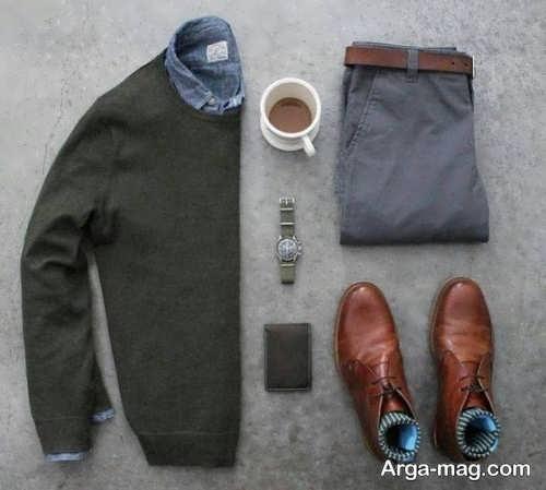 ست کردن لباس با کفش قهوه ای