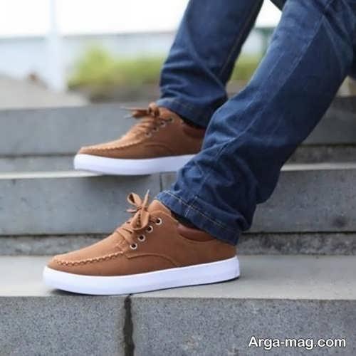 ست کردن با کفش قهوه ای مردانه