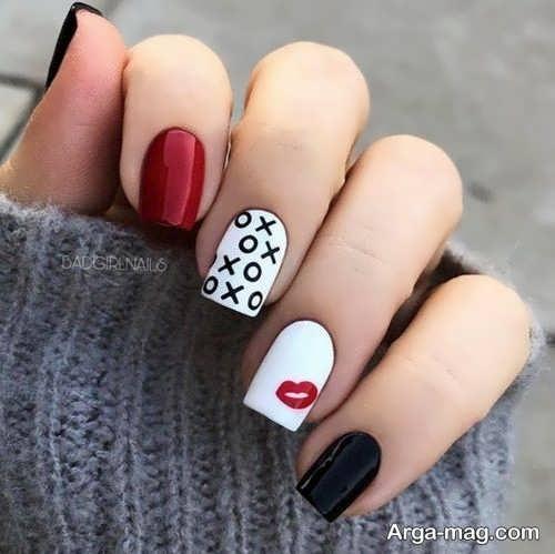 طراحی ناخن نوشته دار زنانه و دخترانه