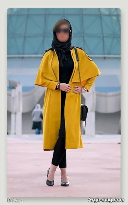 مانتوی زرد بلند